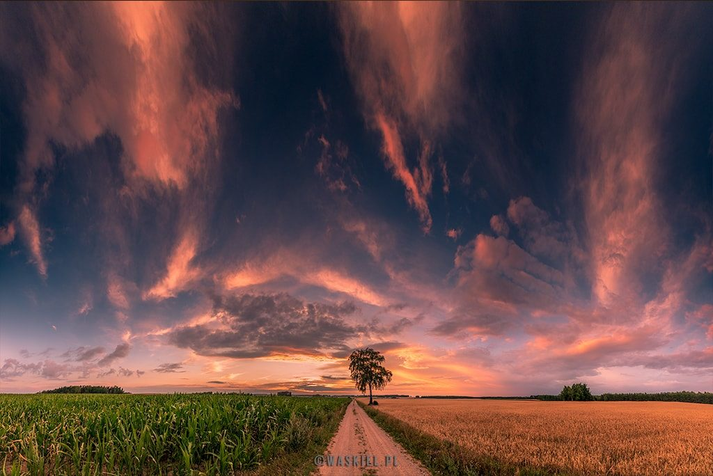 Zachód słońca na Podlasiu. Piątek 13 lipca :)blog marek waskiel