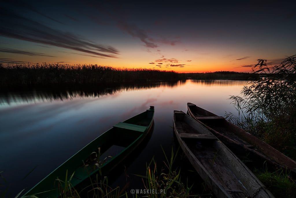 Wschód słońca nad Narwią