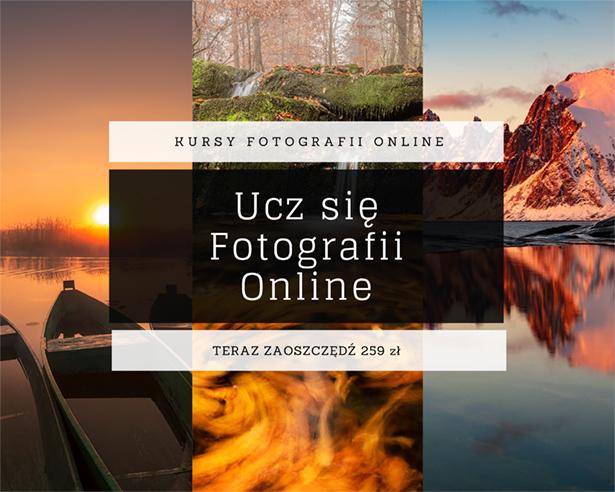 Obraz przedstawiający, jak wygląda kurs fotografii online.