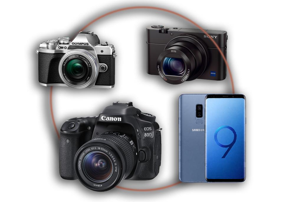 Zdjęcie prezentujące jaki aparat cyfrowy najlepiej wybrać.