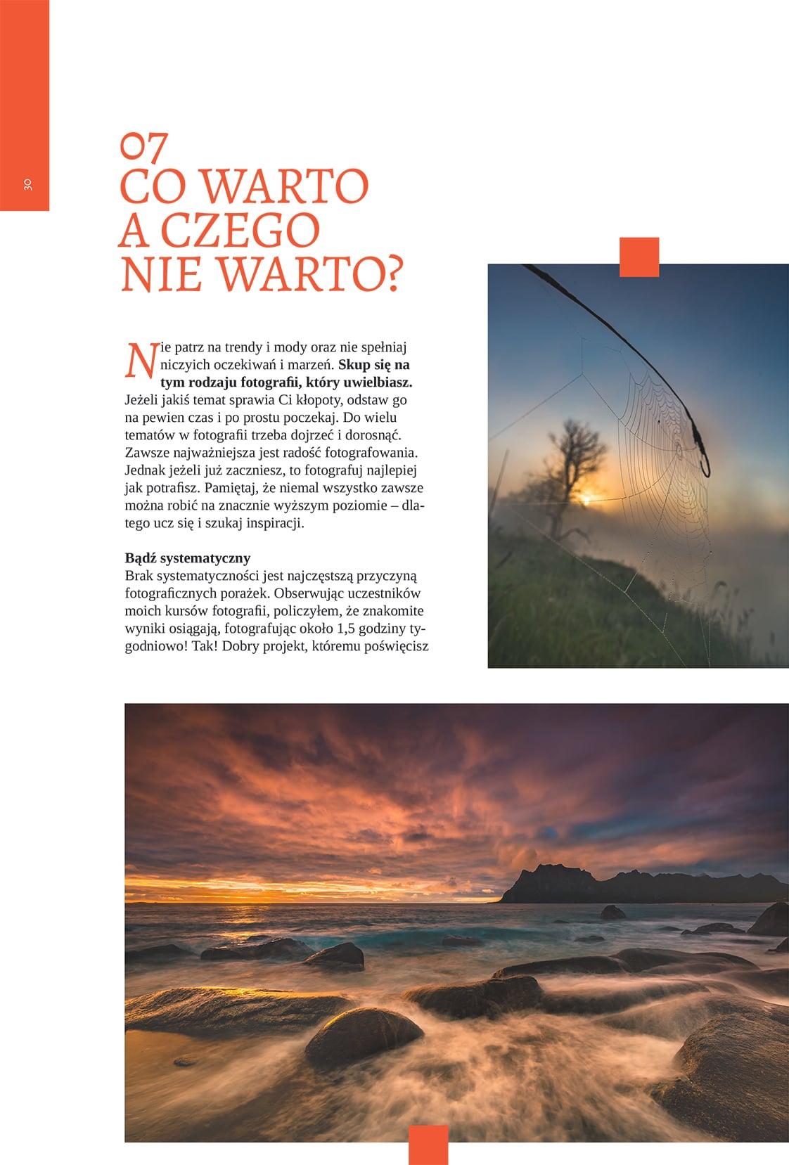 Obraz przedstawiający przykładowy rozdział z darmowego ebooka o fotografii.