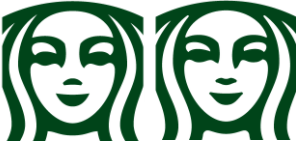 Obraz przedstawiający symetrię w przypadku loga firmy Starbucks.